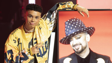Siala Robson with mentor Boy George.