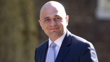 Sajid Javid, British Home Secretary.