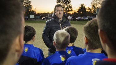 Head of AFL Victoria, and former North Melbourne coach, Brad Scott, at the 'Marby Park' Lions recently.
