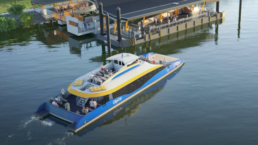 A double-decker CityCat - the first of a fleet of seven - will be on the Brisbane River this year.