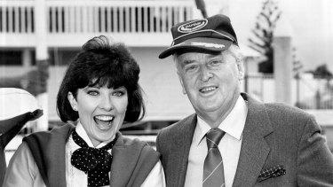 Sir Joh with TV personality Jacki MacDonald