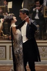 Michelle Dockery as Lady Mary Talbot and Matthew Goode as Henry Talbot.