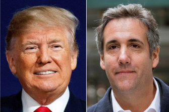 President Donald Trump and former White House insider Michael Cohen.