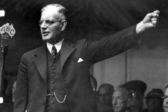 Recordings of the war-time speeches of prime minister John Curtin are on magnetic audiotape.