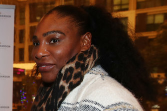 Serena Williams in Auckland ahead of her 2020 opener, the ASB Classic.