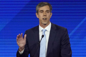 Democratic presidential candidate Beto O'Rourke during Thursday night's debate.