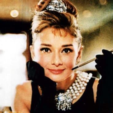 Audrey Hepburn in the film of Truman Capote's 1958 novel Breakfast at Tiffany's.