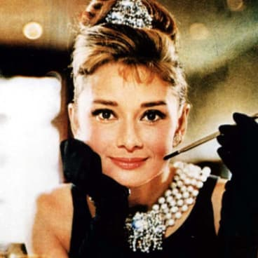 Audrey Hepburn in the film of Truman Capote's 1958 novel Breakfast at Tiffany's.