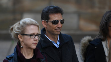 Serge Benhayon outside the NSW Supreme Court on Tuesday.