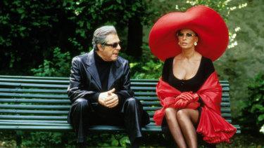 With Marcello Mastroianni in 1994's Prêt-à-Porter.