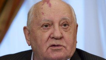Former Soviet president Mikhail Gorbachev in 2016.
