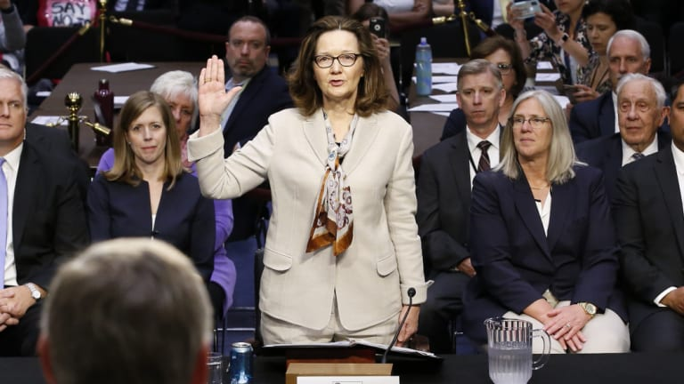 Gina Haspel faced tough questioned during her confirmation hearing about the CIA's use of waterboarding.