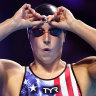 Rivals ... Katie Ledecky and Ariarne Titmus.