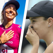 Ash Barty and Sally Fitzgibbon claimed the world No.1 rankings in tennis and surfing, while Hannah Green broke the majors drought in women's golf.