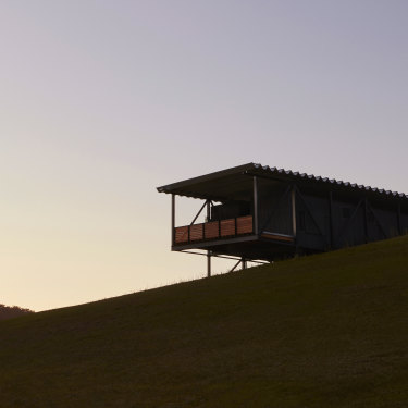 """A flood-bridge structure enabled Bundanon's new building to create space in thin air: """"We had to find an idea that solved a lot of issues with one gesture,"""" says lead architect Kerstin Thompson."""