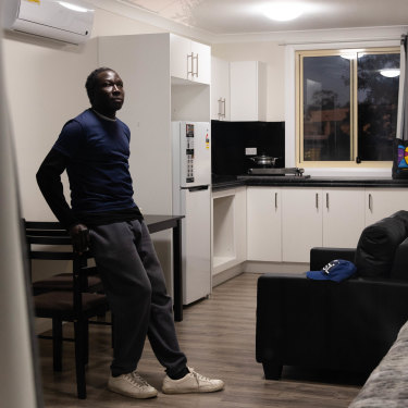 Emmanuel Kei was homeless after losing his job due to the pandemic. SydWest Multicultural Services helped him find his new apartment in Blacktown.
