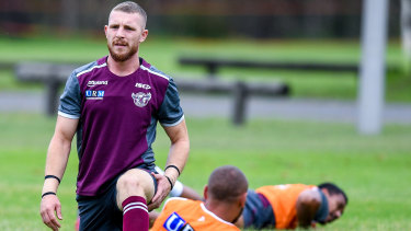 Exiled: Jackson Hastings was nowhere near Manly's thrashing by the Eels, but is apparently their biggest problem.