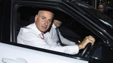 Drummoyne MP John Sidoti leaves the ICAC in Sydney in April.