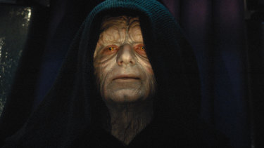 Ian McDiarmid as Emperor Palpatine in Star Wars.