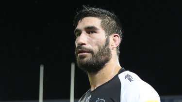 Panthers prop James Tamou aided in efforts to save homes near the NSW town of Braidwood.