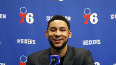 Australian NBA star Ben Simmons.