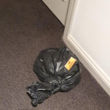 "A bag left in a corridor at the Rydges on Swanston marked ""infectious waste""."