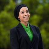 New Yarra councillor for The Greens, Anab Mohamud.