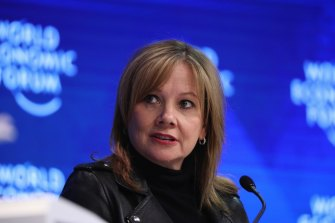 """GM chief Mary Barra """"As one of the world's largest automakers, we hope to set an example of responsible leadership in a world that is faced with climate change,"""""""