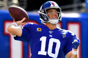 Eli Manning  in action last year.