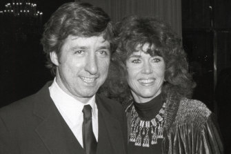 With second husband Tom Hayden, whom she wants to be buried near.