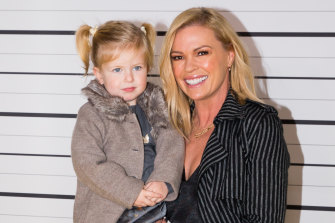 Helping the then-48-year-old TV personality Sonia Kruger (pictured here with daughter Maggie) become pregnant further boosted Burmeister's rock-star status in the fertility world.