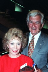 Bob Hawke and Blanche d'Alpuget at the launch of the Sydney Festival 1998 at the Sydney Opera House.,