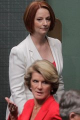 Then PM Julia Gillard passes and Julie Bishop in 2011.
