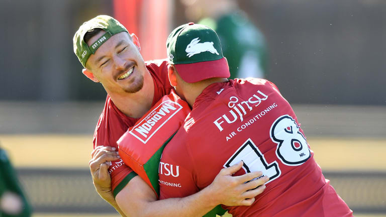 Wrestling with his options: Rabbitohs hooker Damien Cook will test his worth on the open market.