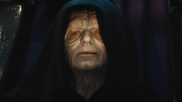 Ian McDiarmid as Emperor Palpatine in Star Wars.