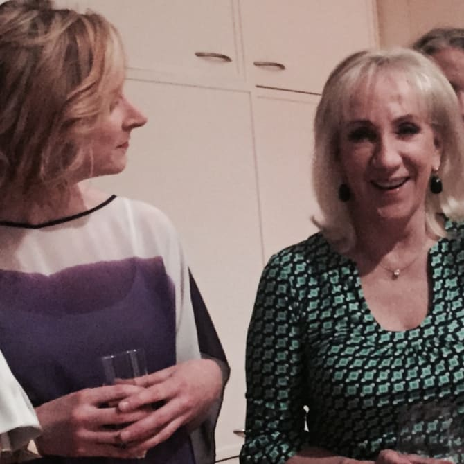 Leigh Sales and friend PamelaWilliams.