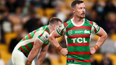 Damien Cook and the Rabbitohs come to terms with defeat against the Panthers.