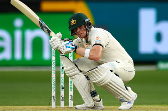 Steve Smith of Australia avoids a bouncer during day one of the First Test match between Australia and New Zealand at Optus Stadium on December 12, 2019 in Perth, Australia.