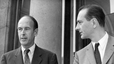 From finance minister to president, to euro's founding father: Former French president Valery Giscard d'Estaing (left) is seen with his then secretary of finance, later also president, Jacques Chirac in 1969.