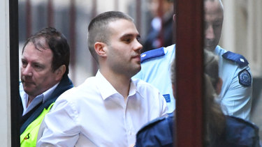Milan Jovic arrives the Supreme Court of Victoria on Tuesday for sentencing over charges of affray and aggregated burglary over a Caroline Springs brawl where a man was fatally stabbed.