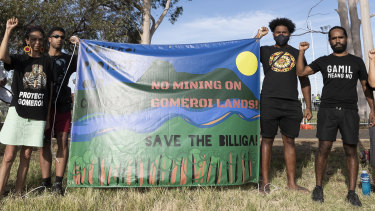 Gamil means no: Local Indigenous people object to Santos's Narrabri gas project on cultural grounds.
