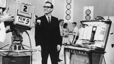 Host of Bandstand, and later the network's legendary newsreader, Brian Henderson in 1958.