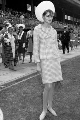 Jean Shrimpton at the Melbourne Cup in 1965.