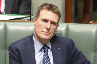 Christian Porter in Parliament on May 27.