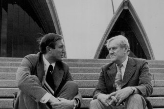 In 1973 the Sydney Opera House opened and Patrick White, pictured right with  Russian poet Yevgeny Yevtushenko, won the Nobel Prize for Literature.