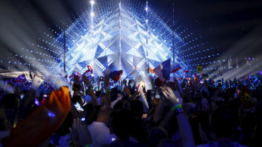 A sea of flags: fans attend the 2019 Eurovision Song Contest.