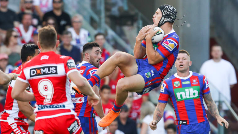 Lightning bolter: Kayln Ponga is reaching new heights at Newcastle Knights.
