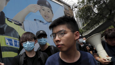 Pro-democracy activist Joshua Wong joins the fresh student protest.
