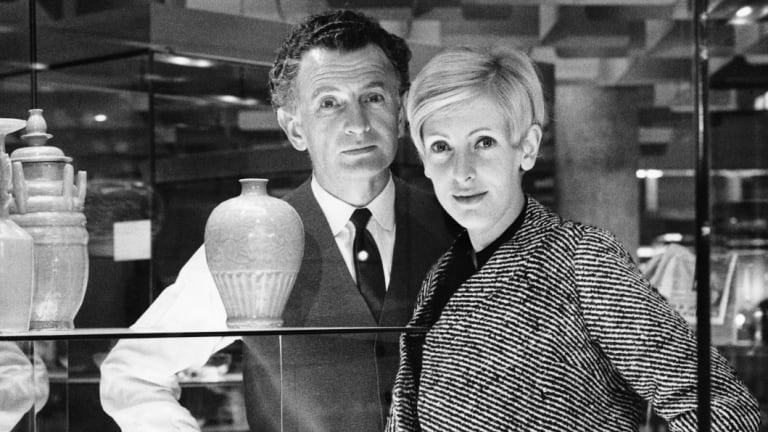 Grant and Mary Featherston in the National Gallery of Victoria 1968.