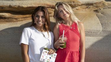 Instagrammers Sally O'Neil and Sally Spratt in Bondi.